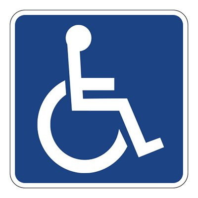 Handicapped Sign Blue Vinyl Sticker - Car Phone Helmet - SELECT SIZE (Ski Company Stickers compare prices)