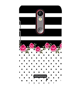 Floral Pattern Design Cute Fashion 3D Hard Polycarbonate Designer Back Case Cover for Moto G Turbo Edition :: Moto G Turbo (Virat Kohli Edition)
