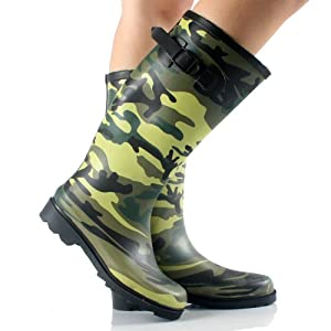 Amazon.com : Camouflage Rubber Women's Mid-Calf Rain Boots