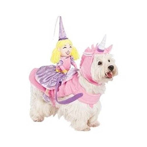 [Dog Cat Rider Costume - Princess on Unicorn Small Medium Halloween=Top Seller Prod] (Princess Riding Unicorn Dog Costume)