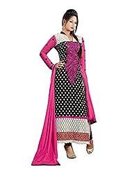 Clickedia Women's Straight Cut Pink Salwar Suit(34010 Pink Dress Material)