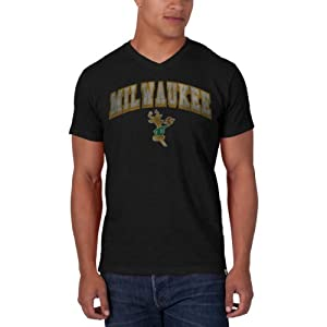 NBA Milwaukee Bucks JV Scrum Tee, Jet Black by