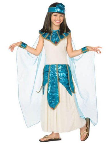 Cleopatra Blue Gold Child 4-6 Kids Girls Costume