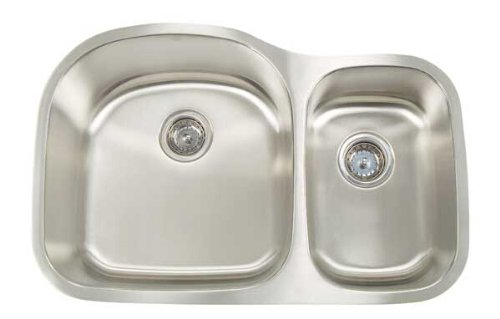 Artisan MH 3220 D87 Manhattan 31-1/8-Inch 18-Gauge Double Basin Undermount Kitchen Sink