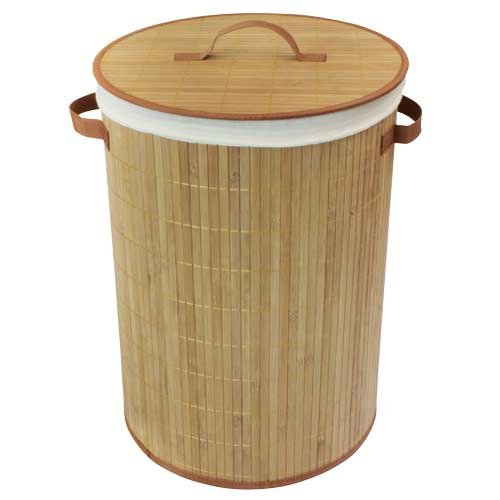 jvl-35-x-50-cm-round-bamboo-collapsible-laundry-basket-with-removable-lining-natural