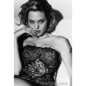 (24x36) Angelina Jolie Movie (In Black Lace) Poster Print