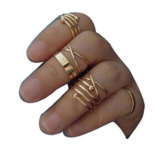 Sannysis® Primavera 6Pcs / Set Vintage Design Pila Sopra Knuckle chiodo dell'anello