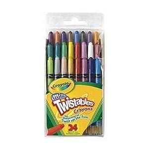 Twistables Fun Effects Crayons 24/Pkg-Neon, Metallics, Rainbow