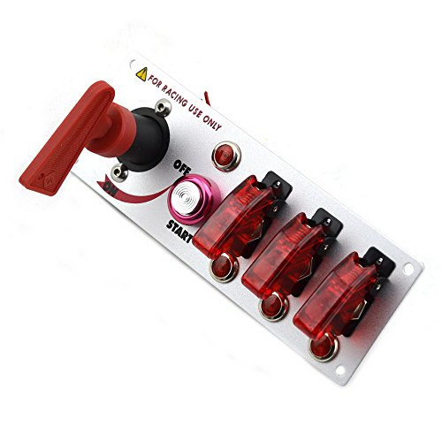 Jtron® Dc12v Flip-up Start Ignition Three Combination Switch Panel and Accessories for Racing Sport (Race Ignition Switch compare prices)