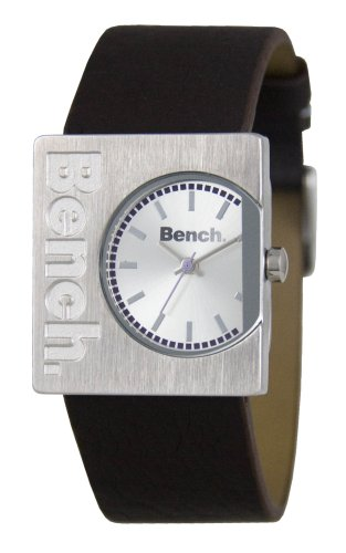 Bench Silver Dial and Brown Strap Ladies Watch - BC0261SLBR