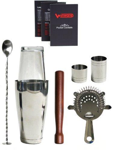 WIN-WARE Boston Cocktail Shaker Gift Set - Includes