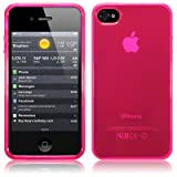 Qubits - iPhone 4S / iPhone 4 TPU Gel Skin Case / Cover - Hot Pink Part Of The Qubits Accessories Range