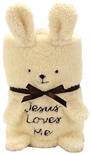 Brownlow Kitchen Bunny Blankie with Scripture, Ivory