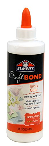 Elmer's Craft Bond Tacky Glue, 8-Ounce, Clear