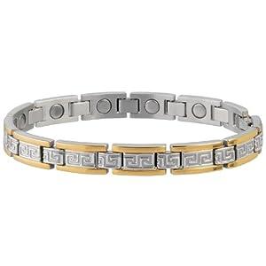 Buy Sabona Lady Greek Key Duet Magnetic Bracelet (Various Sizes) by Sab