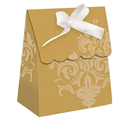 Golden 50th Anniversary Favor Bags w/Ribbon 12 Per Pack
