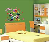 WallStickersUSA Mickey Mouse Minnie Mouse Balloons Wall Sticker and Decal