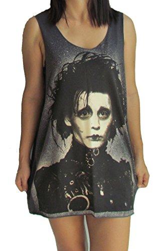 Edward Scissorhands Johnny Depp Vest Tank-Top Singlet T-Shirt XL Brown (Johnny Depp Tank Top compare prices)