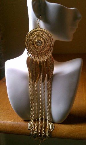 Popparrazzi Gold Shoulder Length Earrings