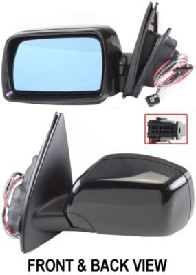 Kool Vue BM34EL Mirror Corner mount Type Driver Side LH Plastic Power Manual folding Heated With memory feature (2001 Bmw X5 Side Mirror compare prices)