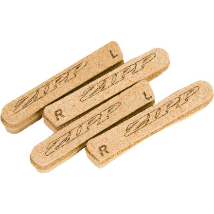 Image of Zipp Tangente Cork Road Bicycle Brake Pad Insert - 4 Pack (B003A6S5TO)