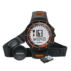 Suunto Men's Quest Watch, Heart Rate Belt and Mini Move Stick - Orange