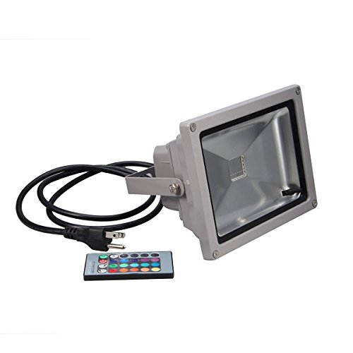 Dreamy Lighting Waterproof Remote Control 20W Rgb 16 Color Changing Led Flood Light
