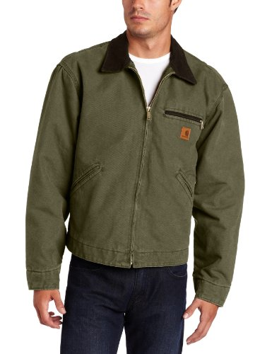 Carhartt Men's Blanket Lined Sandstone Detroit Jacket J97