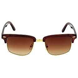 Eyeland Non-Polarized Oval Sunglasses (Brown, EYE182)