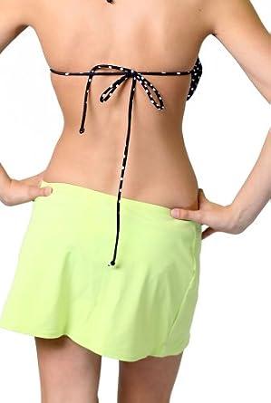 Alki'i Women's Athletic Mini Skirt (Swimsuit Cover up) L Green