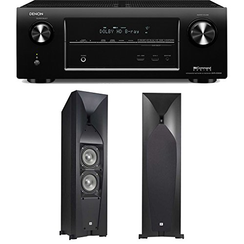Denon Avr-X3000 7.2-Channel 4K Networking Home Theater Receiver Plus A Pair Of Jbl Studio 570 High Performance Floorstanding Speakers