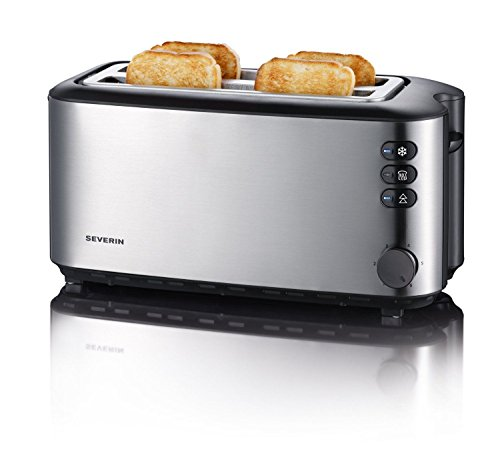 Severin Automatic Long Slot Toaster 4 Slice Brushed Stainless Steel Free Shipping