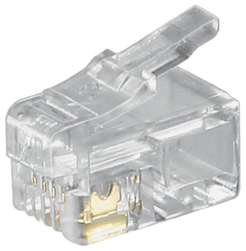 Wentronic Westernstecker für Flachkabel (TEL Mode RJ10 4P4C Mode UG)