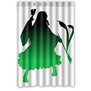 The Green Cartoon Character High Quality Waterproof Bathroom Shower Curtain Measure