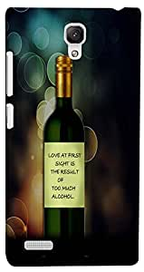PrintVisa Quotes Funny Love Case Cover for Xiaomi Redmi Note/Note 4G
