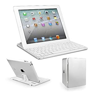 Anker® Bluetooth Ultra-Slim Aluminum Keyboard Cover with Stand for iPad 4 / 3 / 2 (White)