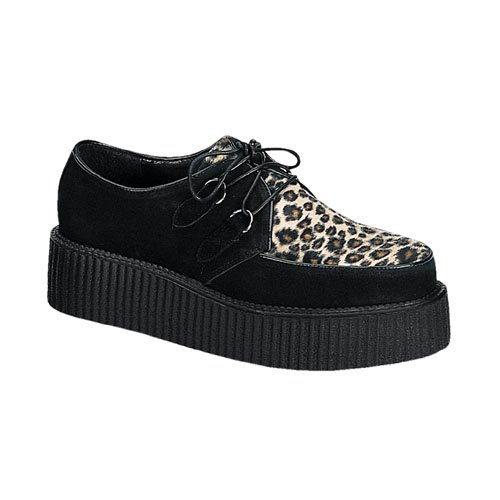 Demonia Mens Loafers Creeper-400 Cheetah Size 7 UK