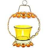 Halowishes Yellow Crystal Tealight Candle Holder Stand Handicraft Item