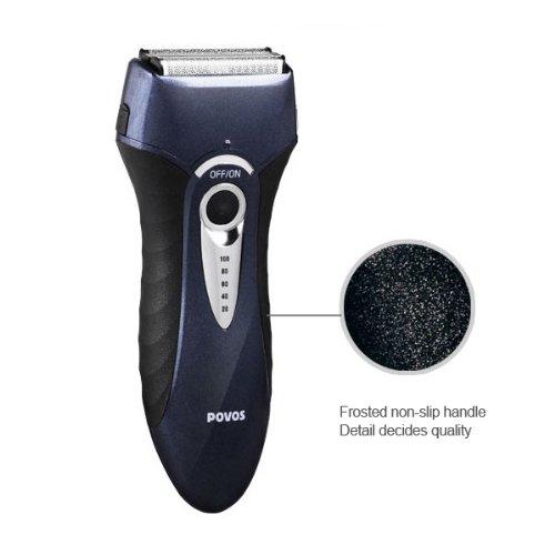 Povos Men'S Electric Shaver Razor C&C Cutting System Star Washable Travel