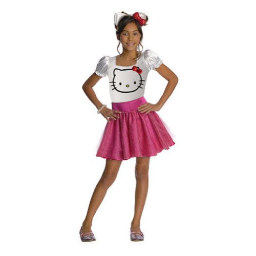 Rubies Girls Hello Kitty Costume with Dress & Headband