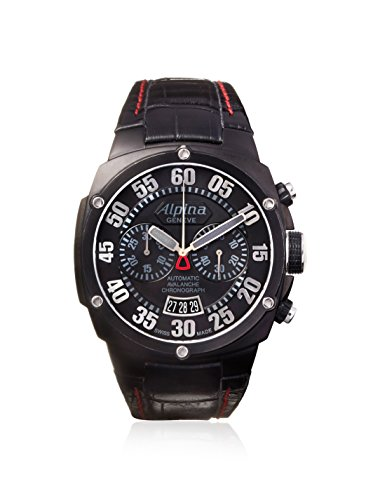 Alpina Men's Double Digit Extreme Chrono Black Stainless Steel Watch