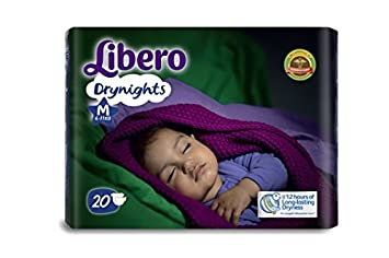 Image result for Libero Drynights Medium Size Diaper (20 counts)