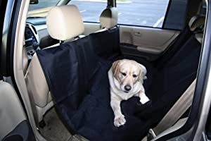 Kyjen OH00679 Back Seat Hammock Dog Auto Travel Back Seat Pet Hammock Easy-Fit Seat Cover, Large, Black