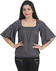 Chikbird Women's Top (CBSSANV019_Navy_Large)