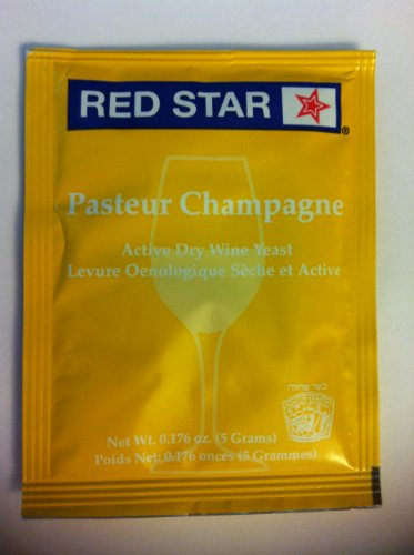 Red Star Pasteur Champagne Wine Yeast 5G (1 Package 5 Grams)