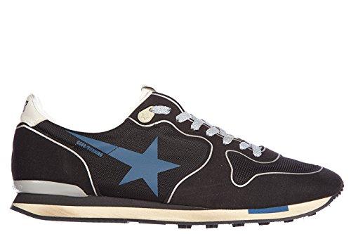 Golden-Goose-zapatos-zapatillas-de-deporte-hombres-en-piel-nuevo-running-blu