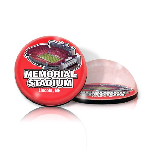 "NCAA Nebraska University Cornhuskers Memorial stadium in 2"" Crystal magnet with Colored Window Gift Box"