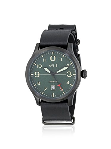 AVI-8 Men's AV-4021-05 FlyBoy Analog Japanese-Automatic Black Watch