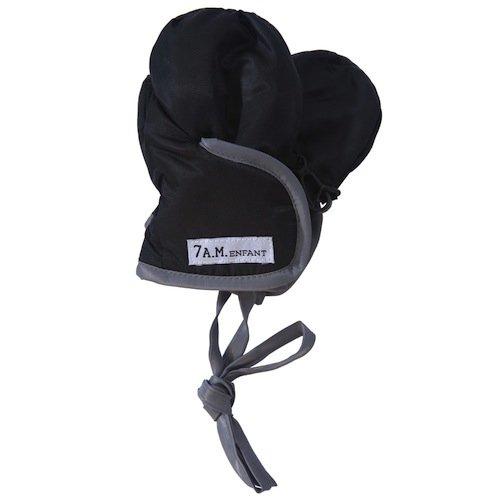7AM Enfant Classic Mittens 500, Black/Grey, X Large