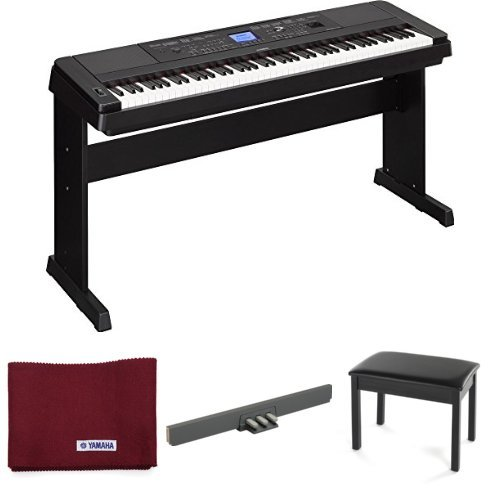 Check Out This Yamaha DGX-660 88-Note Digital Piano, Black, with Yamaha Three-Pedal Unit, Padded Ben...